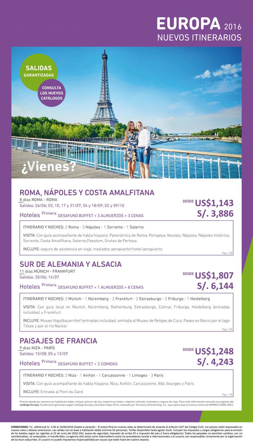 itinerarios europa: