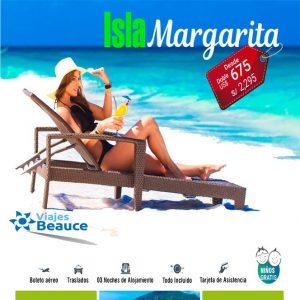 Disfruta de las bella playa de la Isla de Margarita con Viajes BEAUCE..