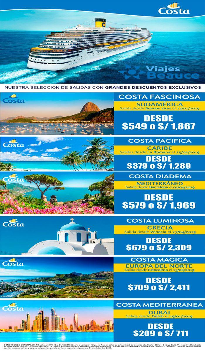 Disfruta de un crucero por Europa o el Caribe que solo te ofrece Viajes BEAUCE..