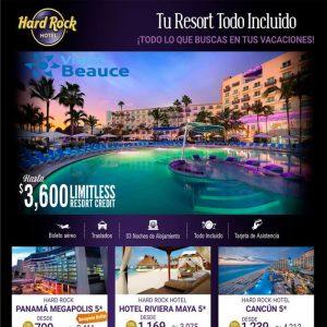 ¡Todo lo que buscas en tus Vacaciones! con Hard Rock Hotel te lo ofrece Viajes BEAUCE::