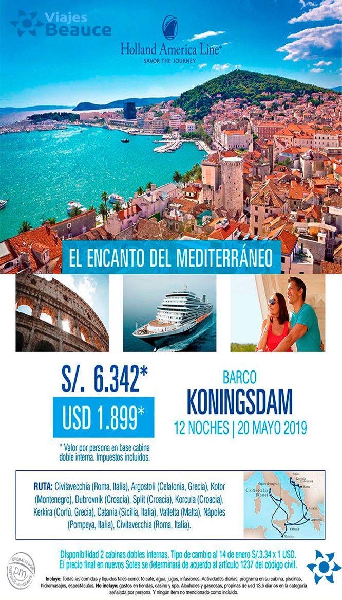 Te invitamos que disfrute del encanto del Mediterráneo con Viajes BEAUCE…