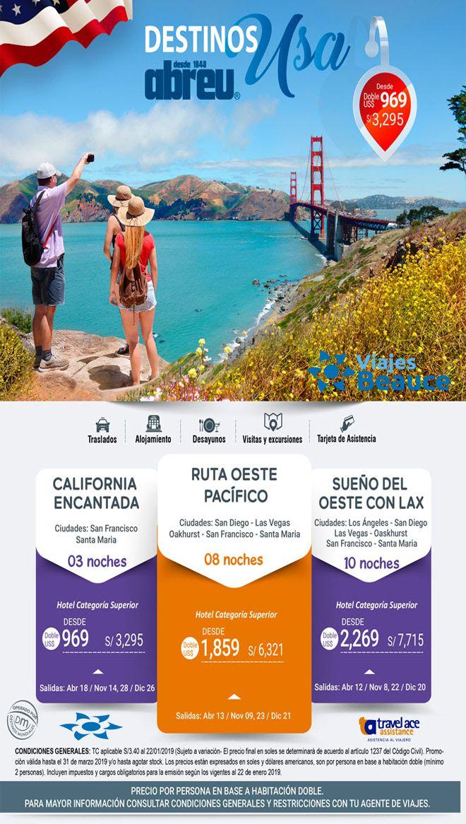 Te ofrecemos los mejores destinos de USA con Viajes BEAUCE.