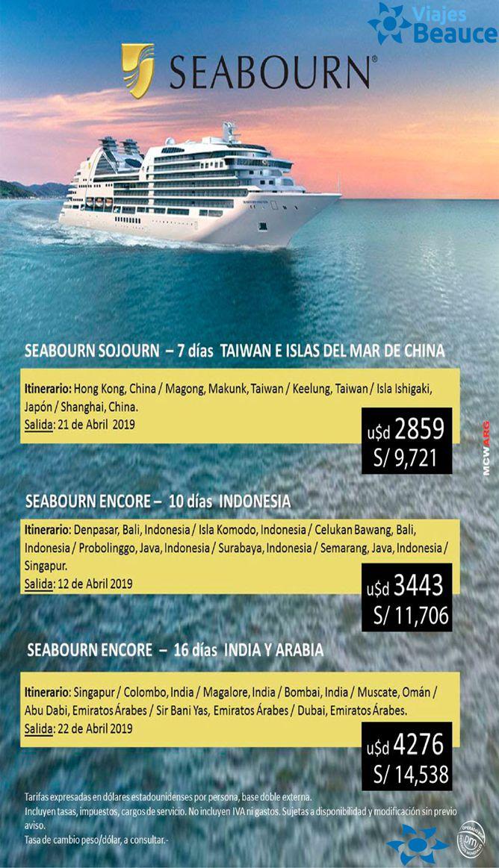 Te ofrecemos los mejores Cruceros de Lujo navegando por los MARES DE ASIA con Viajes BEAUCE!!