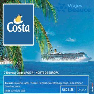 Disfruta de un crucero por el norte de Europa y las costas mediterráneo con Viajes BEAUCE..