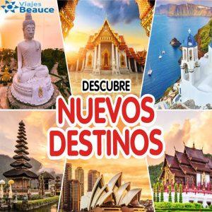 Descubre ¡NUEVOS DESTINOS! con Viajes BEAUCE.