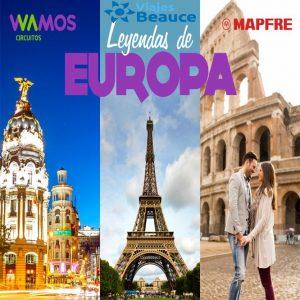 Te ofrecemos las ¡LEYENDAS DE EUROPA! para que disfrute con Viajes BEAUCE.