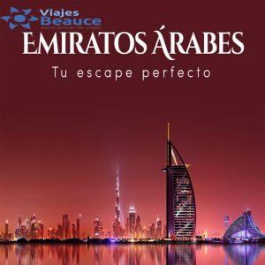 Viajes BEAUCE te ofrece para que disfrute de la bellezas de los EMIRATOS ÁRABES tu escape perfecto..