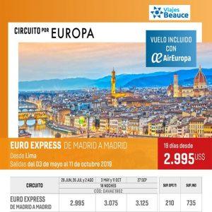 Disfruta de los mejores Circuito por EUROPA con Viajes BEAUCE.