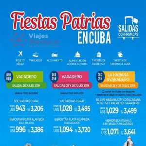 Disfruta de las FIESTAS PATRIAS en la Isla de CUBA con Viajes BEAUCE..
