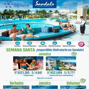 Viajes BEAUCE te ofrece  Vacaciones de SEMANA SANTA ¡Imperdible Disfrutarlo en Sandals!
