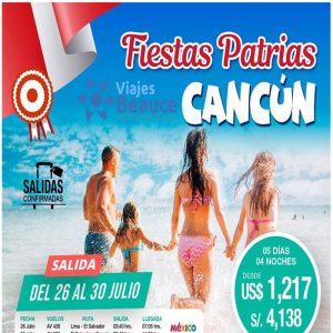 ¡ Fiestas Patrias! en CANCUN con Viajes BEAUCE.