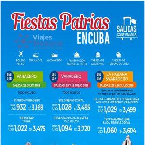 ¡NOS VAMOS a CUBA en FIESTAS PATRIAS! y te lo ofrece Viajes BEAUCE..
