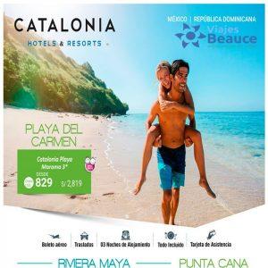¡Escapa de la rutina y disfruta del caribe con Hoteles Catatonia! y te lo ofrece Viajes BEAUCE..