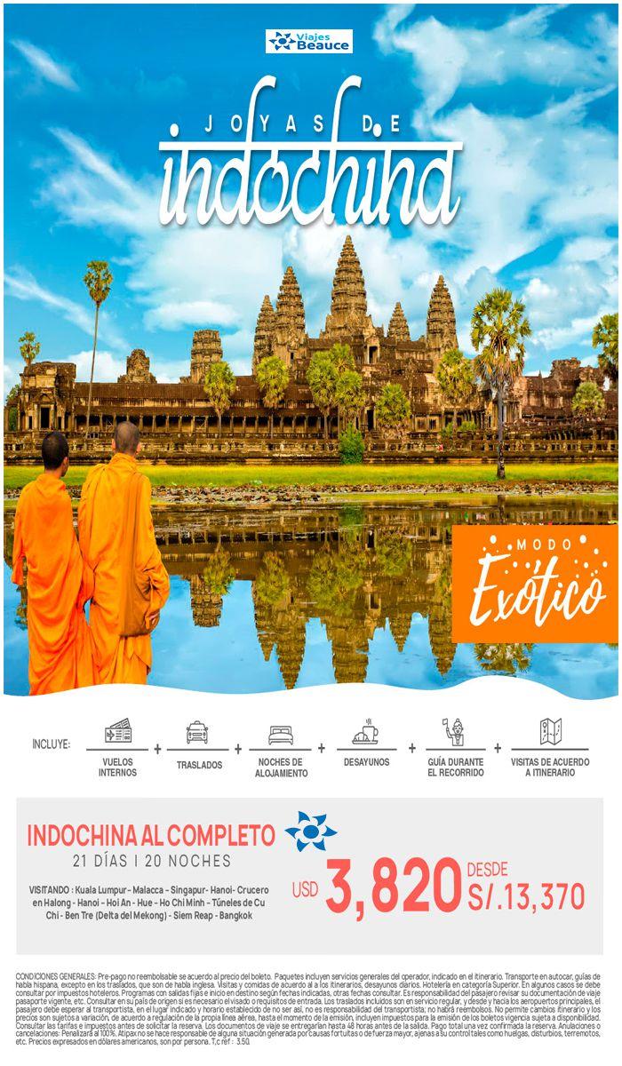 Conoce las maravillas de Indochina .. Modo Exótico!! con Viajes BEAUCE.
