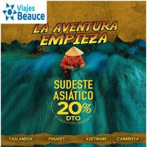 La Aventura Empieza en Sudeste Asiático con 20% DTO que te ofrece Viajes BEAUCE.