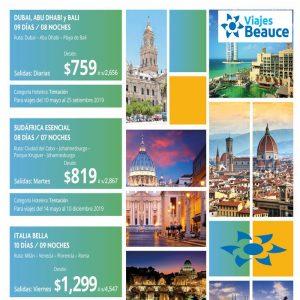 ¡DESCUBRE EL MUNDO, TENEMOS LAS MEJORES OFERTAS! con Viajes BEAUCE.