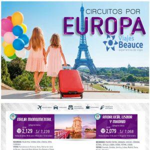 Disfruta de los mejores ¡ CIRCUITOS POR EUROPA! con Viajes BEAUCE.