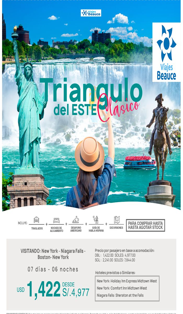 Triangulo del este clásico en USA con Viajes BEAUCE.