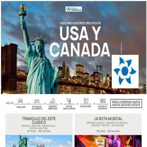 Descubre nuestros circuitos en Usa y Canadá, en Viajes BEAUCE.