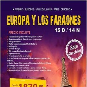 EUROPA Y LOS FARAONES 15D/14N con Viajes BEAUCE.