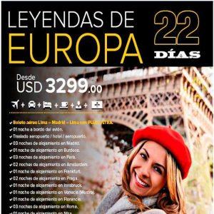 Disfruta de las leyendas de Europa con Viajes BEAUCE.
