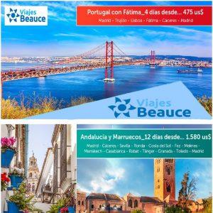 Disfruta de los siguiente tours para Europa con Viajes BEAUCE.
