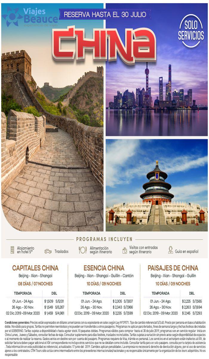 Disfruta de una vacaciones en China con  Viajes BEAUCE.