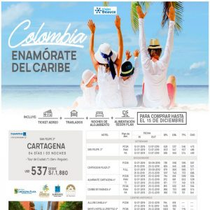 Enamórate del caribe Colombiano,y te lo ofrece Viajes BEAUCE..
