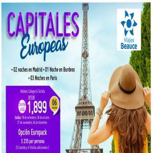 Descubre las Capitales Europeas en compañía de tu agencia de Viajes BEAUCE..