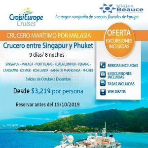 Conoce Tailandia & Malasia a través de Croise Europe con Viajes BEAUCE.!!