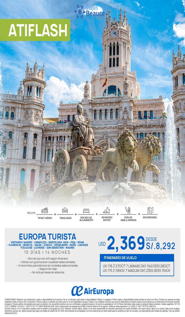 Conoce Europa vía AirEuropa con Viajes BEAUCE.