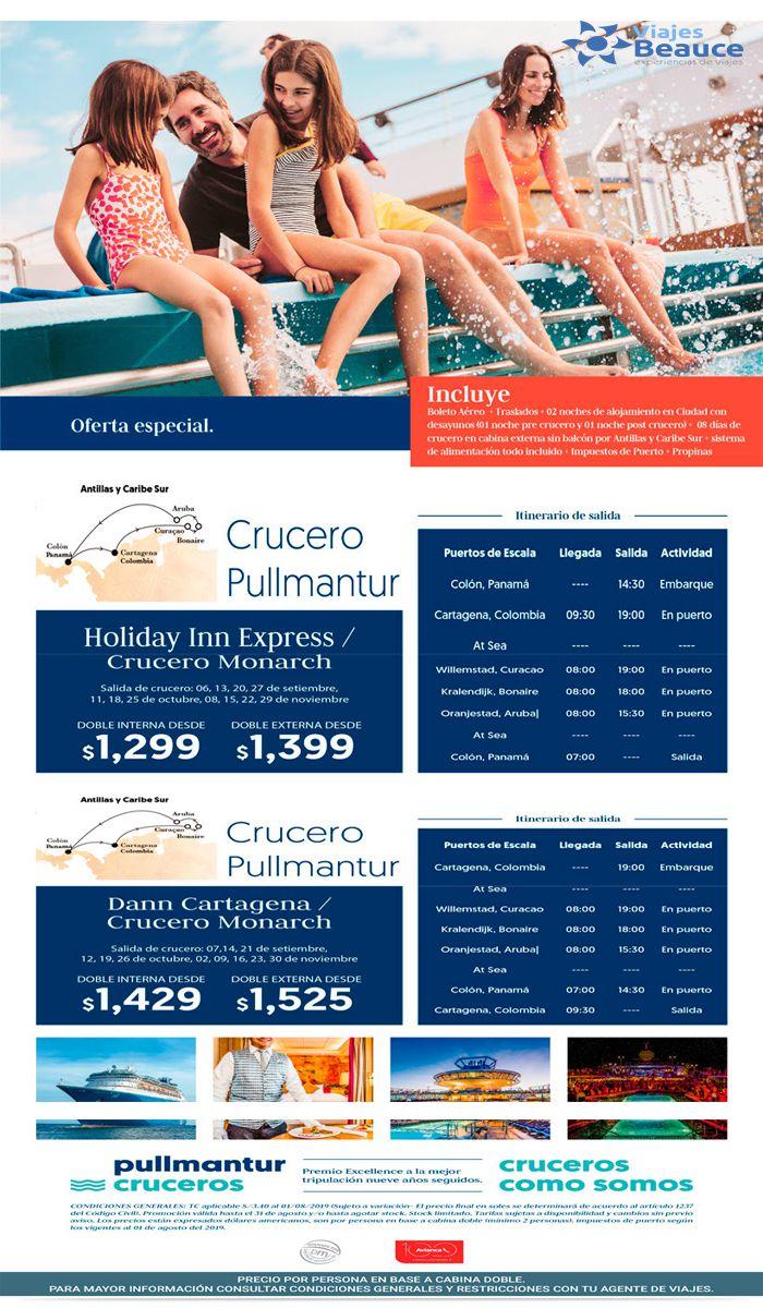 Disfruta de Crucero Pullmantur con Avianca y en compañía de tu agencia de Viajes BEAUCE..