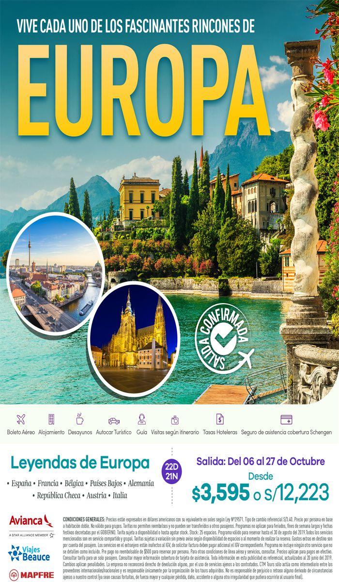 Vive cada unos de sus fascinantes rincones de Europa con Viajes BEAUCE..