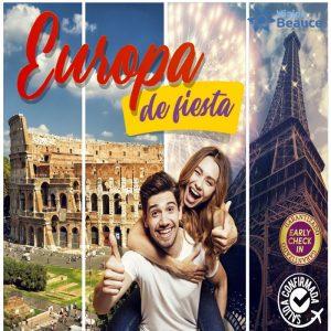 Disfruta de Europa de Fiesta con Viajes BEAUCE..