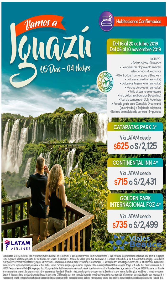 Vamos a IGUAZU con Viajes BEAUCE..