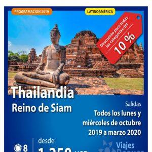 ¡Thailandia (Reino de Siam)!con descuento para todas las categorías del 10%, con Viajes BEAUCE.