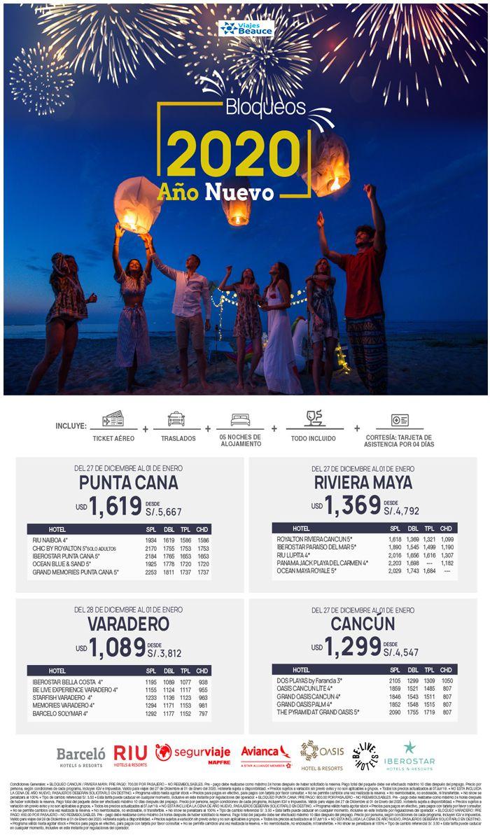 Espacios Confirmados por Año nuevo al Caribe… Reserva ya con Viajes BEAUCE.