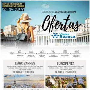 Los mejores destinos de Europa.. OFERTAS  con Viajes BEAUCE.