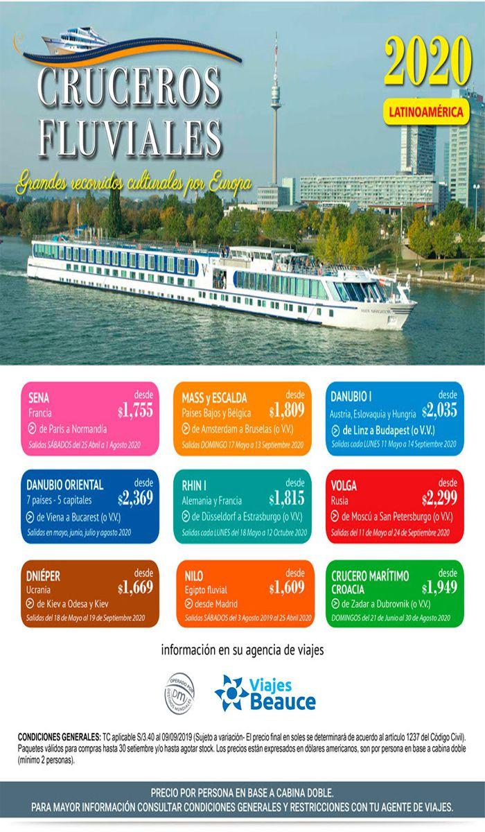 ¡Avance de temporada, Cruceros Fluviales Europa 2020 con Viajes BEAUCE.