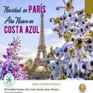 NAVIDAD EN PARÍS, AÑO NUEVO EN COSTA AZUL con Viajes BEAUCE.