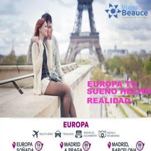 Europa tu sueño hecho realidad con Viajes BEAUCE.