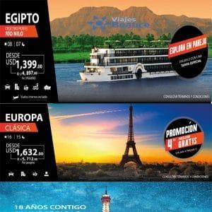 PRECIOS INSUPERABLES! ÚLTIMA SEMANA DE NUESTRAS PROMOCIONES para Europa y Egipto con Viajes BEAUCE.