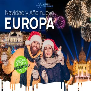 Disfruta de la navidad y Año Nuevo en Europa..Reserva AHORA en Viajes BEAUCE.