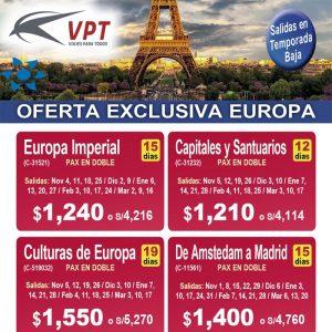 Oferta Exclusiva Europa – Temporada Baja en Viajes BEAUCE.