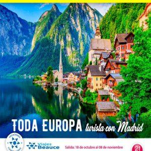 TODA EUROPA, Turista con Madrid con Viajes BEAUCE.