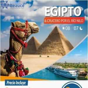 EGIPTO & CRUCERO POR EL RÍO NILO ¡2 PASAJEROS X $ 1,399 con Viajes BEAUCE..