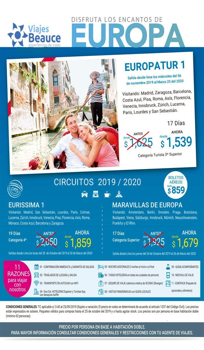 Disfruta los encantos de Europa con Viajes BEAUCE.