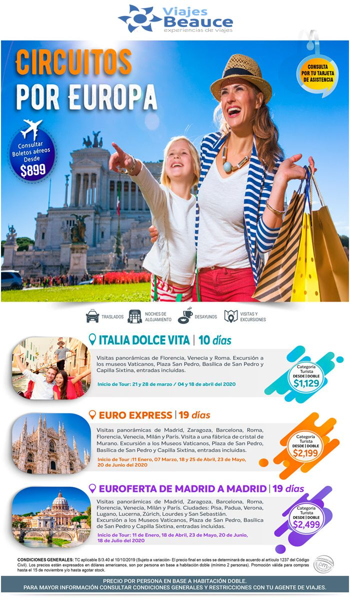 Disfruta del los mejores Circuitos por Europa con Viajes BEAUCE..