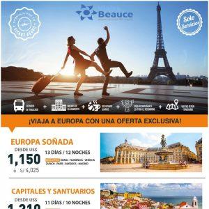 ¡VIAJA A EUROPA CON UNA OFERTA EXCLUSIVA! de Viajes BEAUCE..