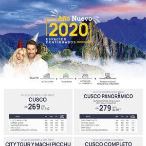 Espacios Confirmados a Cusco y Playas del Norte por Año Nuevo 2020… Reserva ya con Viajes BEAUCE.